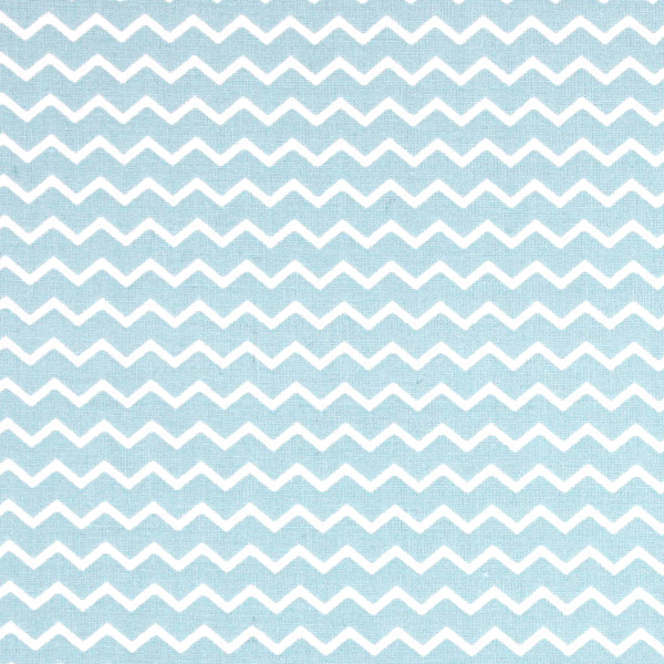 White Zig Zag on Blue Fabric Cut Clearance spares | Sewing Parts and Accessories
